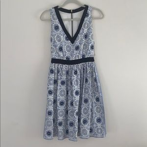Moschino Floral Blue and White Dress